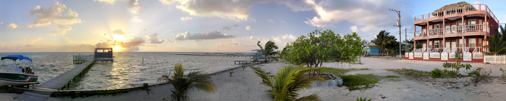 Panorama of Caye Caulker Condos
